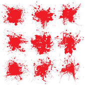 Blood splat collect — Stockvector