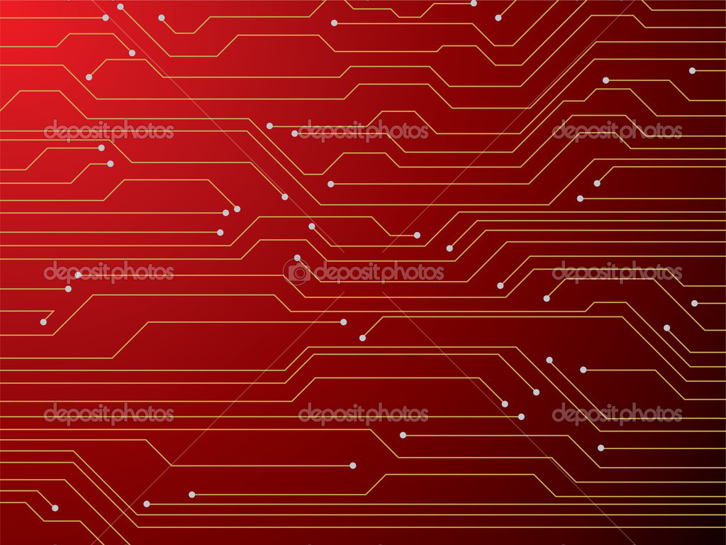 Circuit Board Red Stock Vector 169 Nicemonkey 3430246