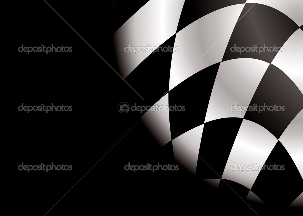 Checkered black and white flag ideal as a formula one background — Stock Vector #3430393