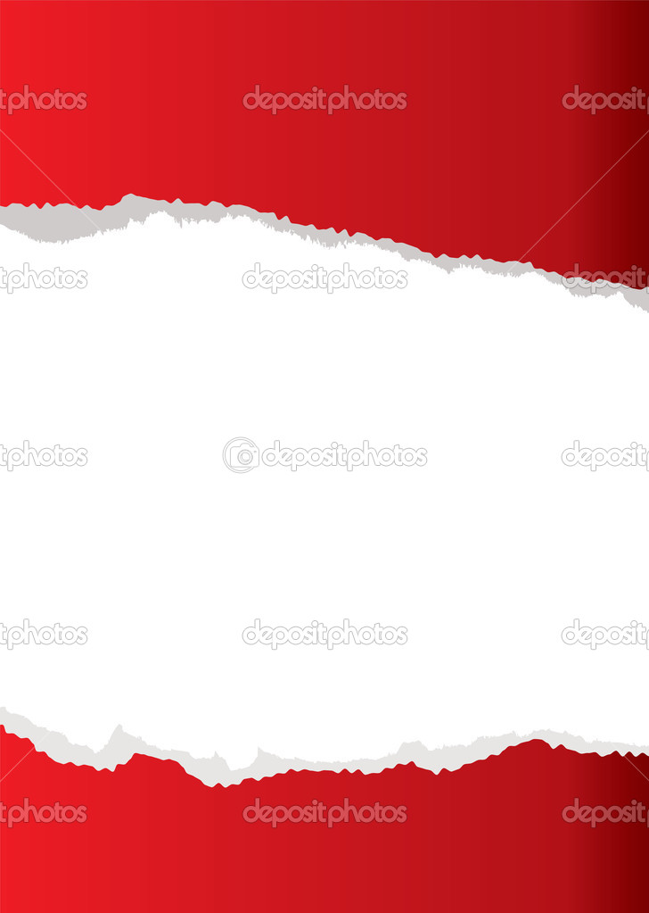 Red abstract paper torn background with white copyspace — Stock Vector #3434126