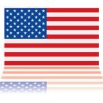 Американский флаг отражение — Cтоковый вектор #3502646