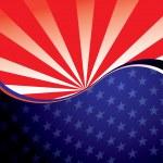 USA radiate background — Stock Vector