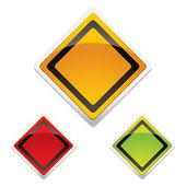 警告标志三重奏 — 图库矢量图片