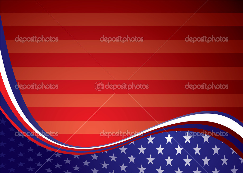 American inspired background illustration with stars and stripes  Stock Vector #3502636