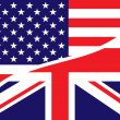 Usa british flag — Stock Photo