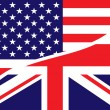 Stock Photo: Usa british flag