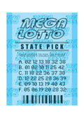 Lottery ticket blue — Stock Photo
