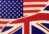 Usa british grunge flag — Stock Photo