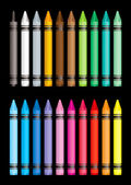 Crayon collection — Stock Photo