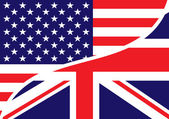 Usa british flag — Stock Photo