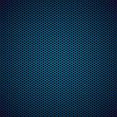 Blue hexagon metal background — Stock Vector