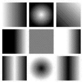 黑色的半色调集合 — 图库矢量图片
