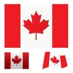 Установленный флаг Канады — Cтоковый вектор