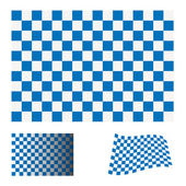 Checkered blue flag — Stock Vector