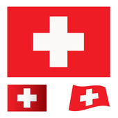 Switzerland flag set — Stock Vector