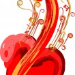 Stock Vector: Music in my heart