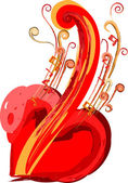 The Music in my heart — Stock Vector