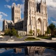 Reflection of Washington Cathedral - Stock Photo