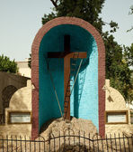 Coptic Christian tomb in Cairo — Stock Photo