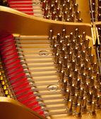 Inside grand piano — Stock Photo