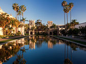 Casa de Balboa and House of Hospitality at sunse — Stock Photo