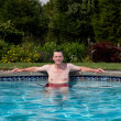 Senior male in pool — Stock Photo #3416449