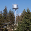 Water tower peeps above tree line — Stockfoto
