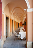 Arched restaurant — Stock Photo