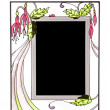 Ornate stained glass picture frame — Stock Photo