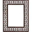 Simple cast metal picture frame — Stockfoto