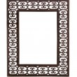 Simple cast metal picture frame — Stock Photo