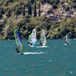 Windsurfing on Lake Garda — Stock Photo