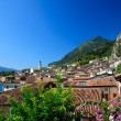 Foto Stock: Limone on Lake Garda