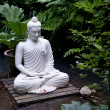Buddha statue in pond — Stock Photo #3698063