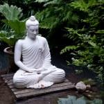 Buddha-Statue im Teich — Stockfoto