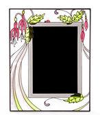 Marco ornamentado vidrieras — Foto de Stock