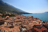 Tiled roofs of Malcesine — Stock Photo