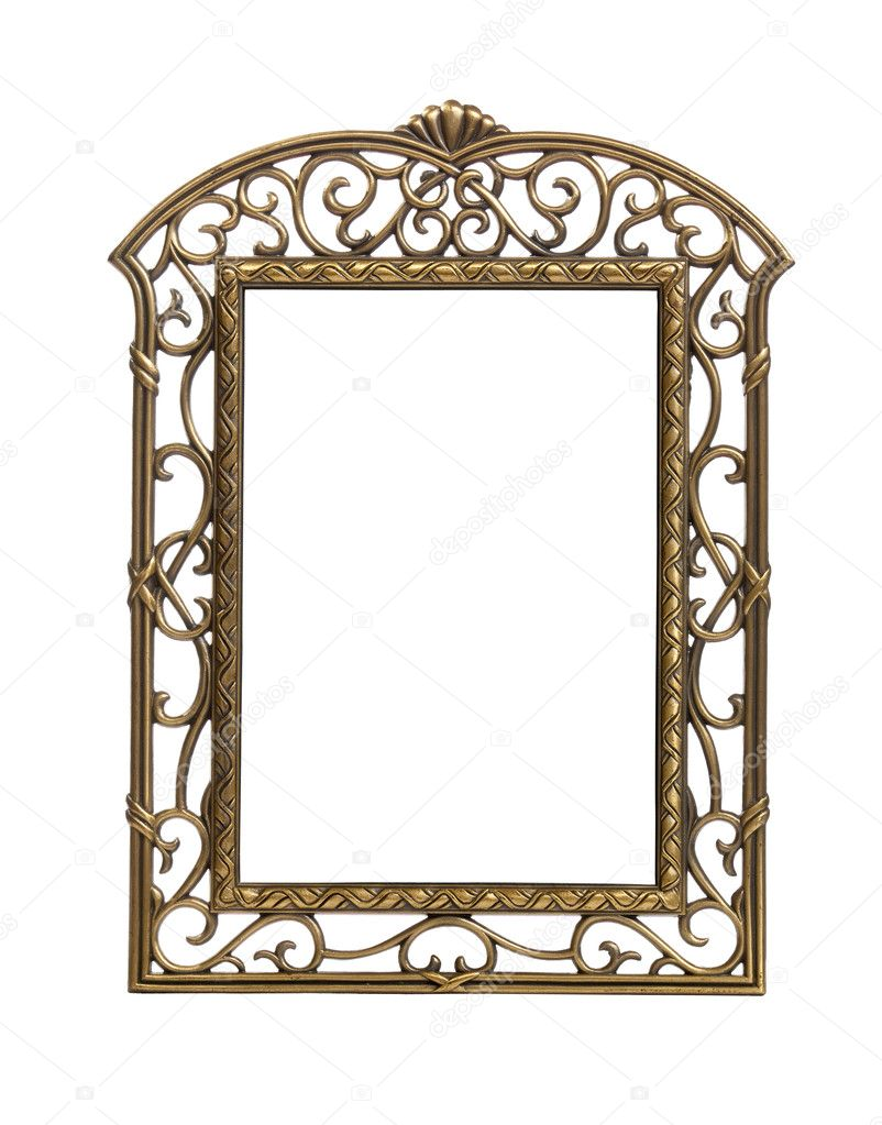 Simple Cast Metal Picture Frame Stock Photo Steveheap