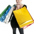 su un po' di shopping — Foto Stock