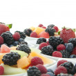 Berries in bowls - Stock Photo