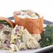 Chicken salad wrap — Stock Photo