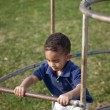 Multi-racial boy at the park — Stock Photo