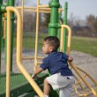 Stock Photo: Multi-racial boy at the park