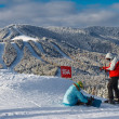 Stock Photo: Skiing resort