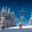 Skiing resort — Stock Photo