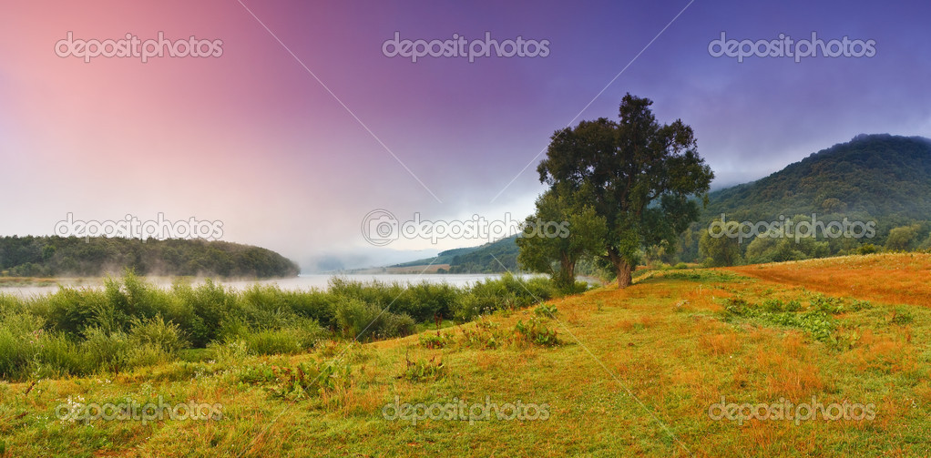 Beautiful landscape with the river — Stock Photo #2709589