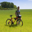 Bike tourist — Stockfoto