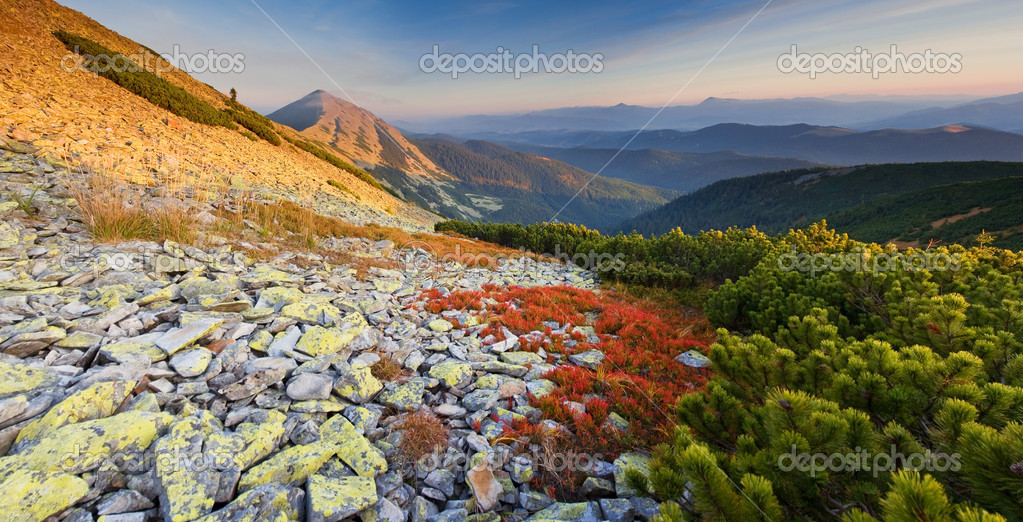 Beautiful autumn day in the mountains — Stock Photo #3183174