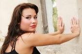 Porträtt brunett kvinnliga sensuell modell. — Stockfoto