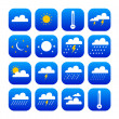 Symbols of weather and climate — Stock Vector